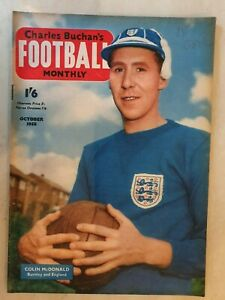 FOOTBALL MONTHLY MAGAZINE COLIN McDONALD - OCTOBER 1958