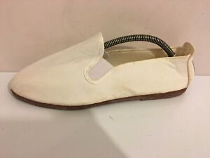 FLOSSY STYLE MENS GENTS WHITE SUMMER SIZE 12/ 45 BEACH CASUAL SHOES CANVAS (NK