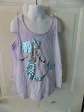 Justice Purple Tank Top W/ Mermaid Size 12 Girl's EUC