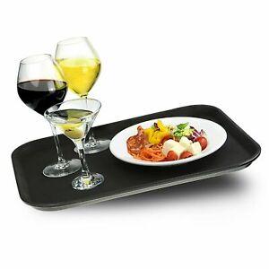 Non-slip rectangular black tray 35x45cm