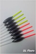 5x `DL` HAND MADE POLE FLOATS  `Slims`  0.4g Red 1.5mm  Tips
