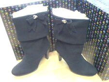 BRAND NEW PLAYBOY WINNIE SUEDE BOOTS BLACK RRP £150 SIZE 3 EURO 36 NEW IN