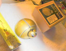 Vintage rare Lucky gold bug Kht Japan friction toy,In Box,pat 207738,lady,desk