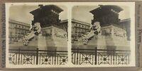 Italia Milan Monumento Victor Emmanuel, Foto Stereo Vintage Analogica PL60OYL2