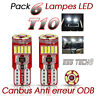 Ampoule T10 led W5w canbus interieur anti erreur ODB-OBD2 Bmw Audi Ww Mercedes
