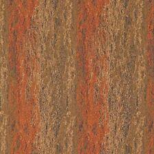 Art Deco Sand Art Sculpture Orange Beige Designer Upholstery Fabric 1384450