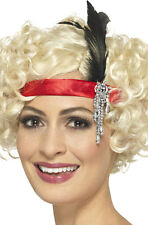 satin Charleston bandeau rouge NEUF - Carnaval Chapeau couvre-chef