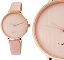 Damen Armbanduhr Rosa-Taupe/Rosegold Kunstlederarmband 190/110 von Excellanc