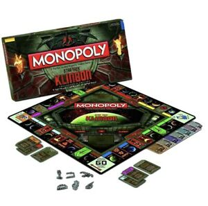 Star Trek Klingon Monopoly Board Game Brand New Factory Sealed Collector's Ed
