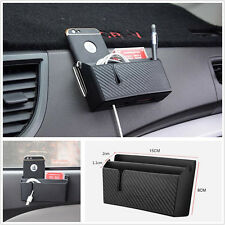 Auto Car Air Outlet Storage Box Cell Phone Charging Cigarette Tickets Organizer