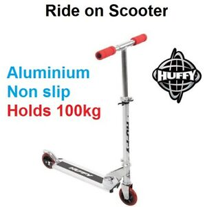 Kids Ride on Scooter Height Adjustable Foldable Holds 100kg HUFFY BRAND NEW