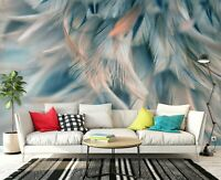 3D Colored Feathers R1057 Wallpaper Wall Mural Self-adhesive Commerce Amy