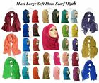 ?? BIG LARGE MAXI LADIES PLAIN HIJAB 100% VISCOSE SHAWL SCARF SARONG PLAIN HIJAB