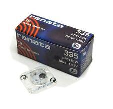 Renata Single Watch Battery Swiss Made Renata 335 or SR512SW 1.55V Fast Shipping
