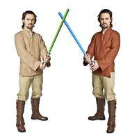 Star Wars Jedi Tunic Shirt Belt Luke Skywalker Obi Wan Men's Costume Khaki Brown