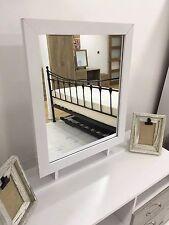 Marina Furniture | Ash White Free Standing Large Dressing Table Desk Mirror