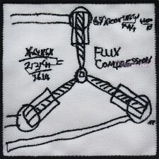 Back to the Future Embroidered Patch Flux Capacitor Plans Doc Brown Time Machine