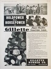 1939 AD(XG8)~GILLETTE RUBBER CO. EAU CLAIRE, WIS. SUPER TRACTION TRACTOR TIRES