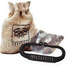 FLINT AND STEEL FIRE STRIKER HAND FORGED WITH TINDER JUTE BAG & ENGLISH STONE