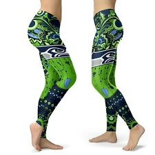 Seattle Seahawks High Waist Fitness Leggings Women Workout Trousers Yoga Pants
