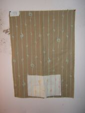 """Lee Joha Groundwork """"Spiral"""" novelty fabric remnant color sand/aqua"""