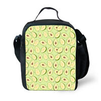 Insulated Lunch Box Avocado Design Cooler Food Storage Bags Bento Shoulder Purse