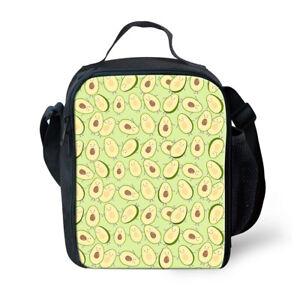 Insulated Lunch Box Avocado Design Cooler Food Storage Bags Bento Shoulder Purse