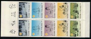 1992 Finland, Moomins, Christmas stamps booklet MNH.