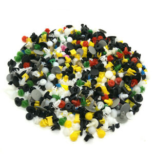 1000pc Car Body Nylon Push Pin Rivet Fasteners Kit Trim Moulding Clip Assortment