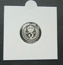 More details for 2006 maundy 3 penny 3d - elizabeth ii silver proof (.925) free p&p