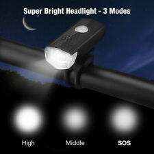 USB Rechargeable LED Bicycle Headlight Bike Head Light Lamp Cycling  3 modes