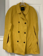 Nwt Talbots 2X/3X Yellow Wool Double Breasted Cape Coat