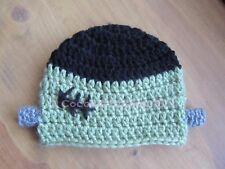 Handmade Crochet FRANKENSTEIN beanie hat photo prop baby toddler child teen adul