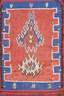 Vintage Geometric Tribal Moroccan Oriental Area Rug Wool Hand-knotted 3x4 Carpet