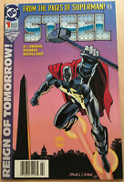 DC Comics Reign of Tommorow Steel #1 1993 Comic Book NM