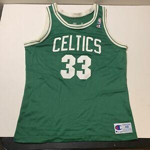 Vintage Larry Bird Champion Jersey #33 Boston Celtics NBA Green Mens Sz 48