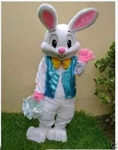 Hot Easter Bunny Mascot Costume Rabbit Cartoon Fancy Dress Adult Size Gift