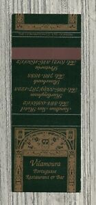 South Africa Matchbook Cover-Vilamoura Portuguese Restaurant and Cafe-1696