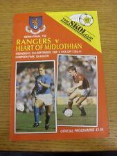 21/09/1988 Scottish League Cup Semi-Final: Rangers v Heart Of Midlothian [At Ham