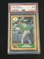 1987 Topps Mark McGwire #366 Oakland Athletics PSA 9 MINT Oakland Athletics !