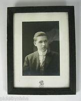 Photograph Framed Portrait 1909 Leon Man Sol. Young Studios NY Print Silver VTG