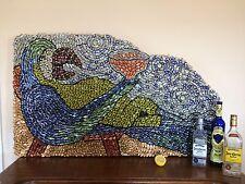 Man Cave Art, Large wall art, Beer Bottle Cap Art, Margaritaville,one of a kind