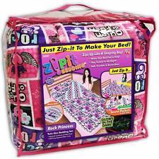 Zipit Bedding Set Zip Up Your Sheets Comforter Like a Sleeping Bag Trundle Twin
