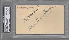 Glenn Cunningham Olympics Signed AUTOGRAPH Postcard Index Card PSA DNA