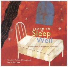 LEARN TO SLEEP WELL practical guide CD 54:43 visualizations music natural sounds