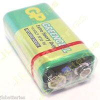 1 x GP GreenCell 9V Battery MN1604 6LR61 PP3 BLOCK 6F22 EXTRA HEAVY DUTY