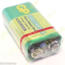 10 x GP GreenCell 9V Batteries MN1604 6LR61 PP3 BLOCK 6F22 EXTRA HEAVY DUTY