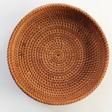 Handmade Round Woven Bread Roll Basket Fruits  Wicker Basket new