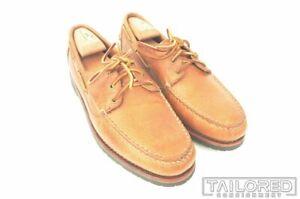 NEW - ALLEN EDMONDS Pueblo Solid Brown Leather Loafer Boat Shoes w/ BOX  - 10 D