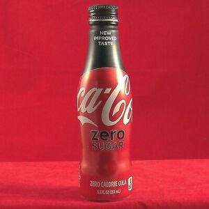 Coke Zero Soda Tin Empty Aluminum Bottle Shaped Collectors Can 8.5FL Coca Cola